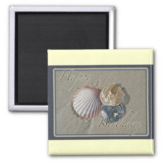 Seashells Happy Birthday Coordinating Items Magnet