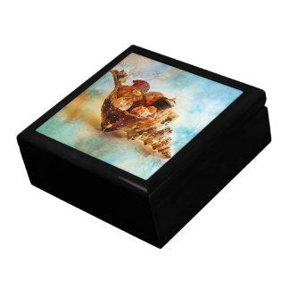Seashells in a Horse Conch Jewelry Box