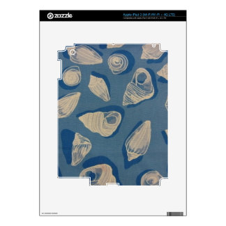 Seashells in Blue Decals For iPad 3