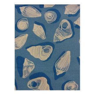Seashells in Blue Postcard