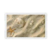 Seashells In Sand Acrylic Tray