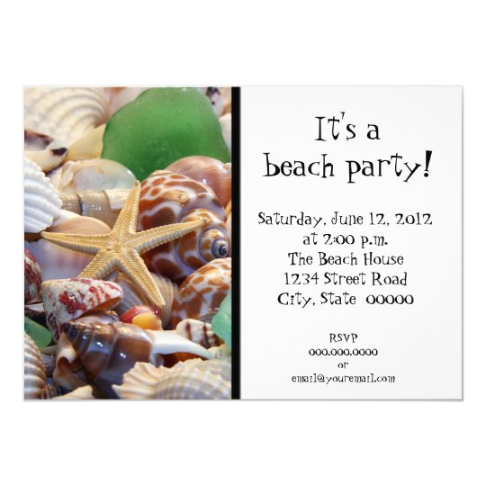 Seashells Invitations