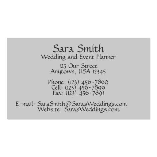 SeaShells & Lace Double-Sided Standard Business Cards (Pack Of 100)