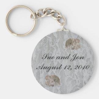 SeaShells & Lace Keychain