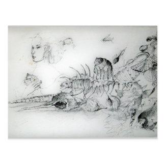 SEASHELLS / Magic Butterfy Plant Postcard