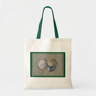 Seashells Merry Christmas Series Budget Tote Bag