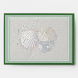 Seashells Merry Christmas Series Envelope
