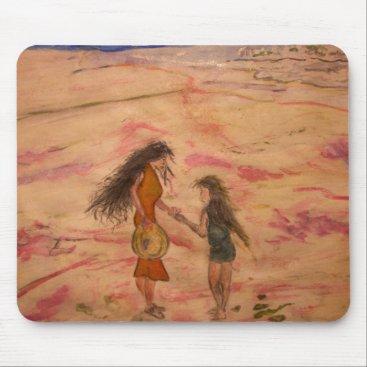 Beach Themed Seashells Mouse Pad
