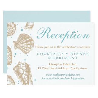 Perfect Seashells Nautical Wedding Reception Response Card