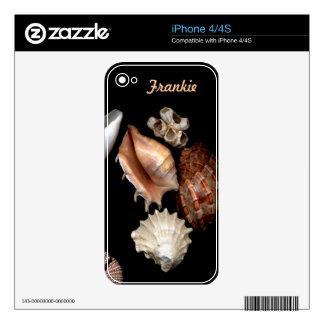 Seashells No. 15 Elegant Nature Design Skin For The iPhone 4