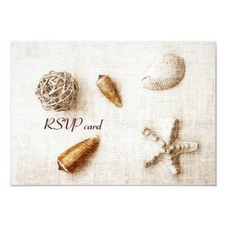 seashells - ocean whisper - RSVP card