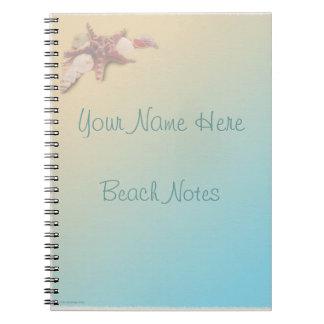 Seashells on a Beach Notebook