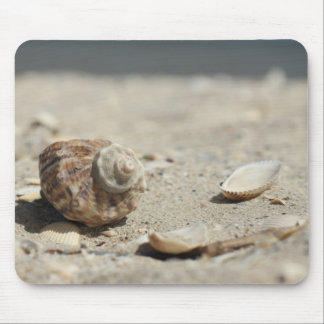 Seashells On Sand By The Sea Mouse Pad