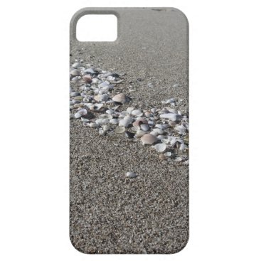 Beach Themed Seashells on sand Summer beach background Top view iPhone SE/5/5s Case