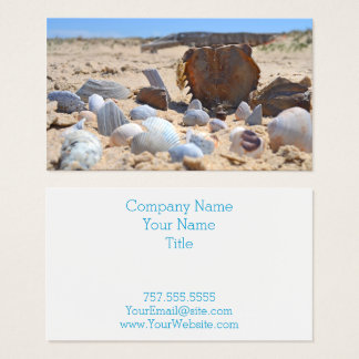 Seashells on the Beach by Shirley Taylor Business Card