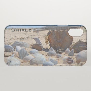 Beach Themed Seashells on the Beach by Shirley Taylor iPhone X Case