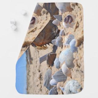 Seashells on the Beach by Shirley Taylor Stroller Blanket