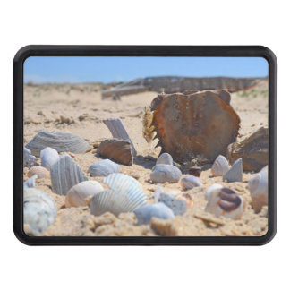 Seashells on the Beach by Shirley Taylor Trailer Hitch Cover