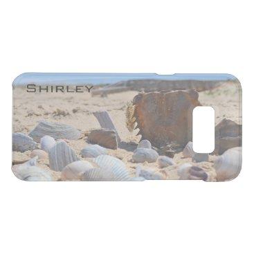 Beach Themed Seashells on the Beach by Shirley Taylor Uncommon Samsung Galaxy S8  Case