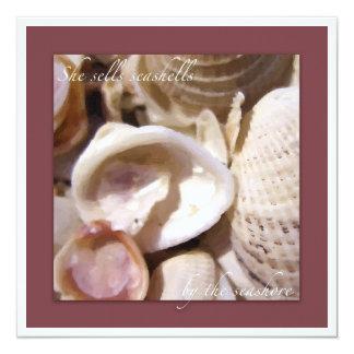 Seashells on the beach card