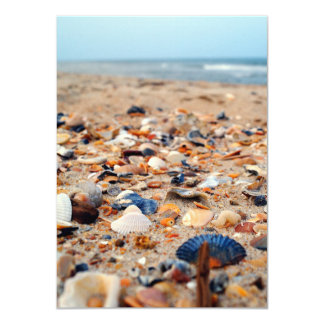 "Seashells on the Beach Invitations 4.5"" X 6.25"" Invitation Card"