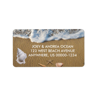 Seashells on the Beach Label