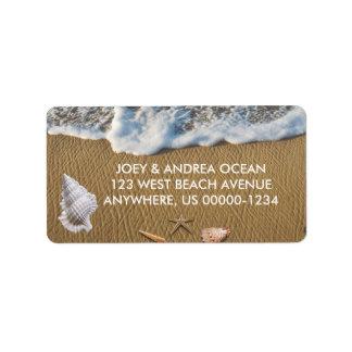 Seashells on the Beach Label