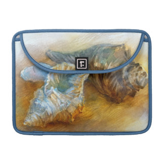Seashells on the beach sleeves for MacBook pro