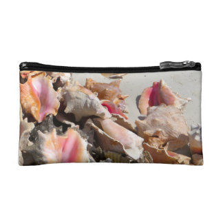 Seashells on the Beach | Turks and Caicos Photo Cosmetic Bags