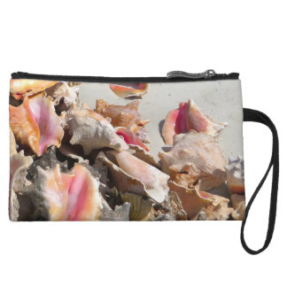 Seashells on the Beach | Turks and Caicos Photo Wristlet Clutches