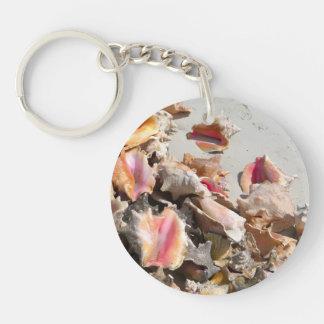 Seashells on the Beach | Turks and Caicos Photo Keychain