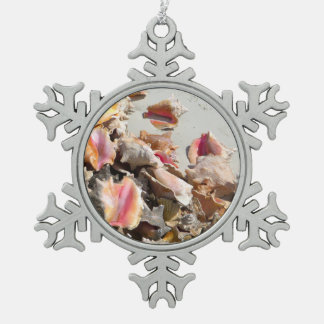 Seashells on the Beach   Turks and Caicos Photo Ornament
