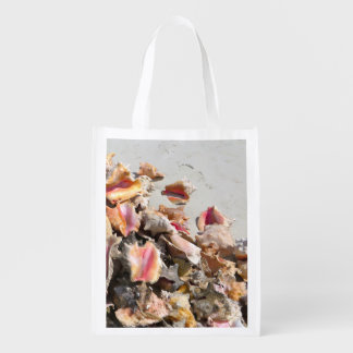 Seashells on the Beach | Turks and Caicos Photo Reusable Grocery Bags