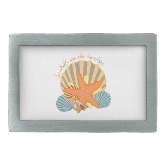 Seashells On The Seashore Rectangular Belt Buckles