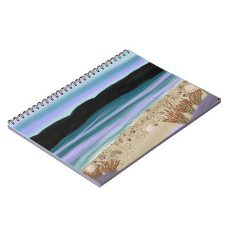 Seashells on the Shore Spiral Notebooks