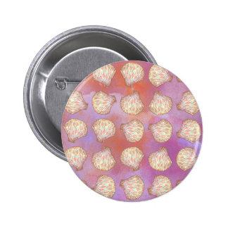 Seashells pattern 2 inch round button