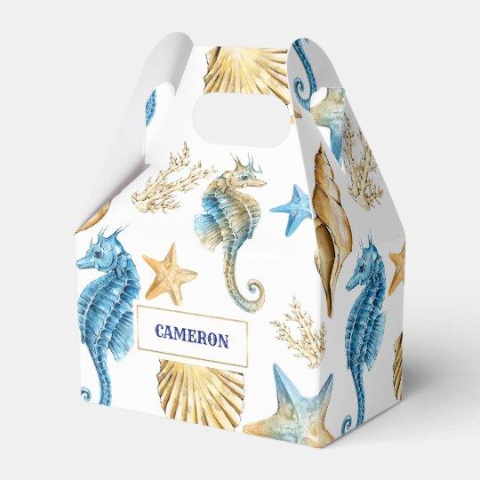 Seashells Pattern Beach Wedding Favor Boxes Zazzle