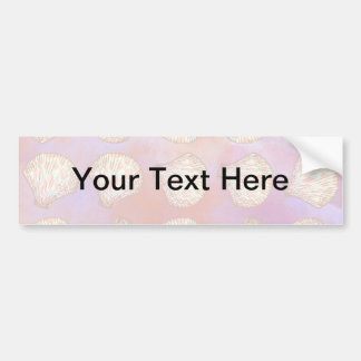 Seashells pattern bumper sticker