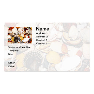 Seashells Pattern Business Card Template