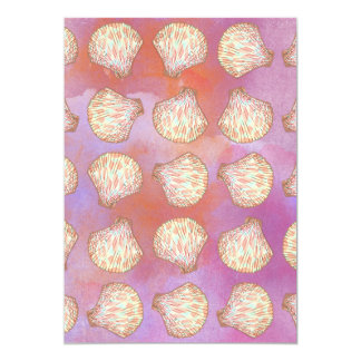Seashells pattern card