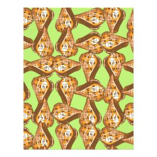 Seashells pattern flyer