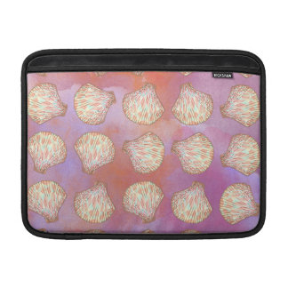 Seashells pattern MacBook sleeve
