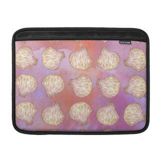 Seashells pattern MacBook sleeves