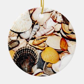 Seashells Pattern Christmas Tree Ornament