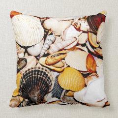 Seashells Pattern Pillow
