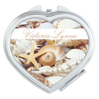 Seashells Personalized Compact Mirror