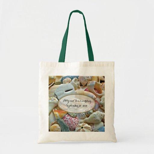 Seashells Personalized Wedding Gift Bag Zazzle