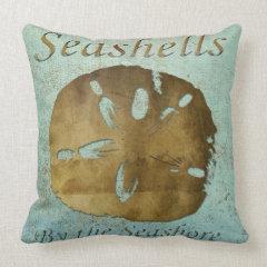 Seashells Pillow, Copyright Karen J Williams