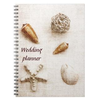 seashells que casan el cuaderno del planificador