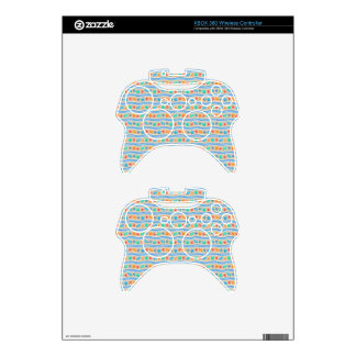 Seashells sand and sea pattern xbox 360 controller decal